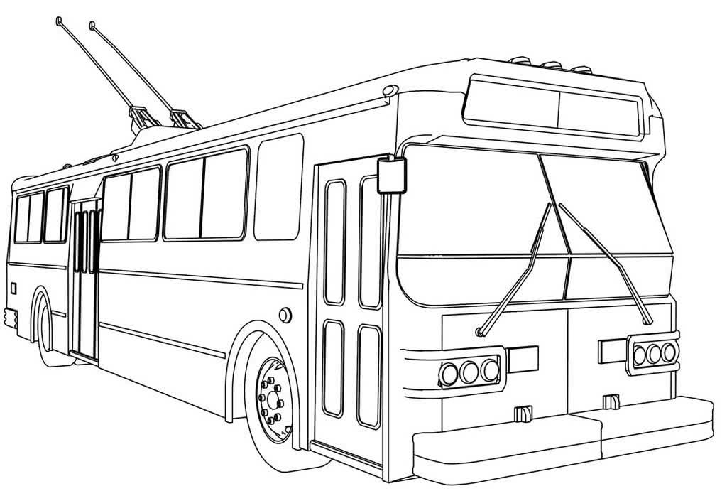 картинки автобусов для раскраски год тот