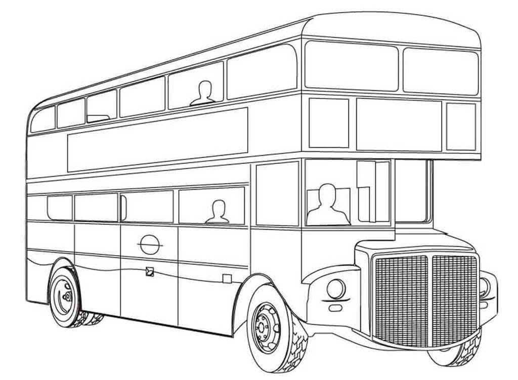 картинки автобусов для раскраски фестивале
