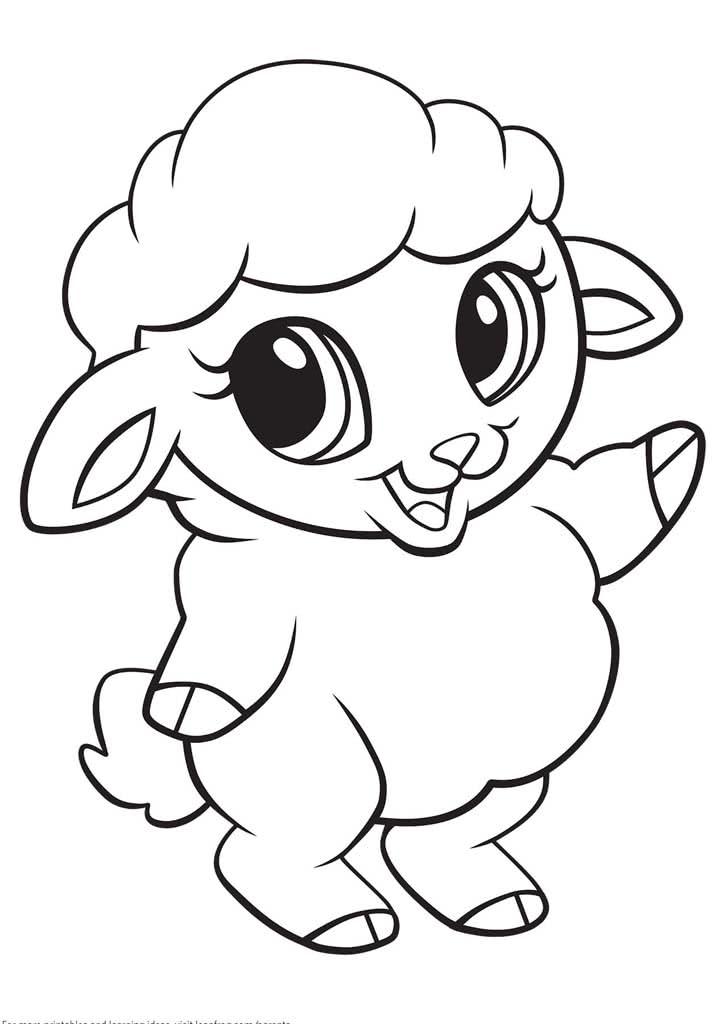 Раскраски Домашние животные для детей 3-10 лет. Животные ...