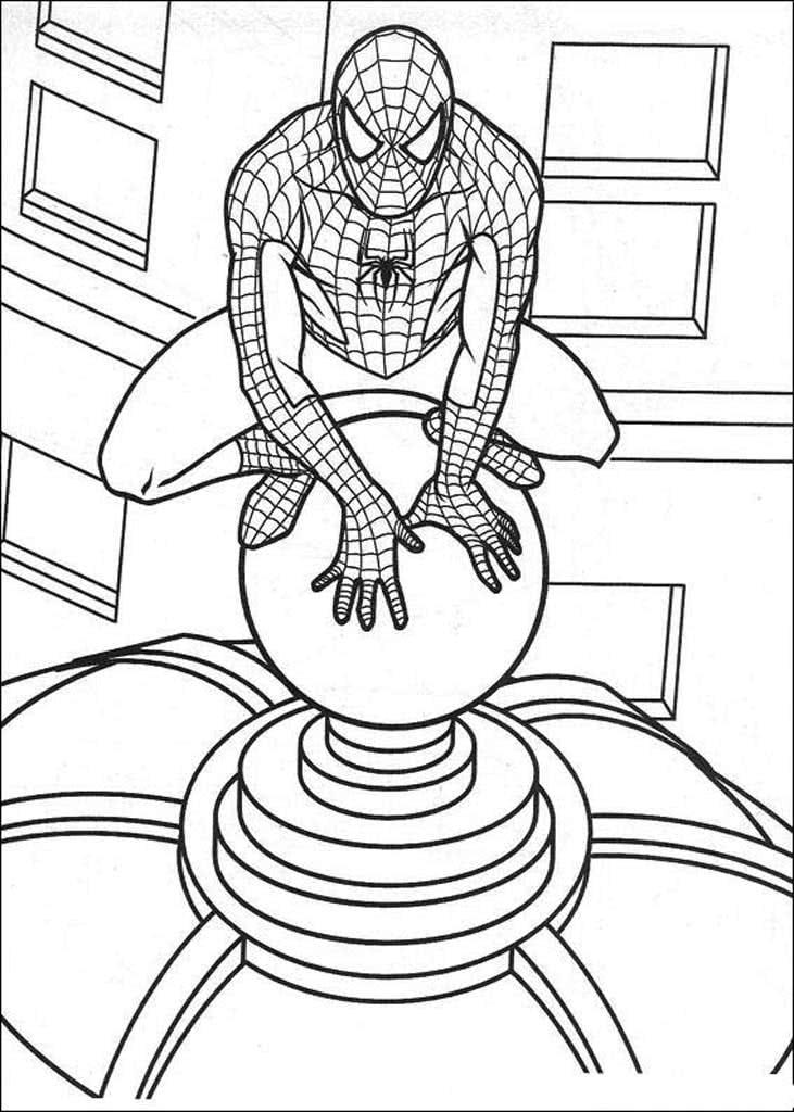 Раскраски Человек-паук (Spiderman)