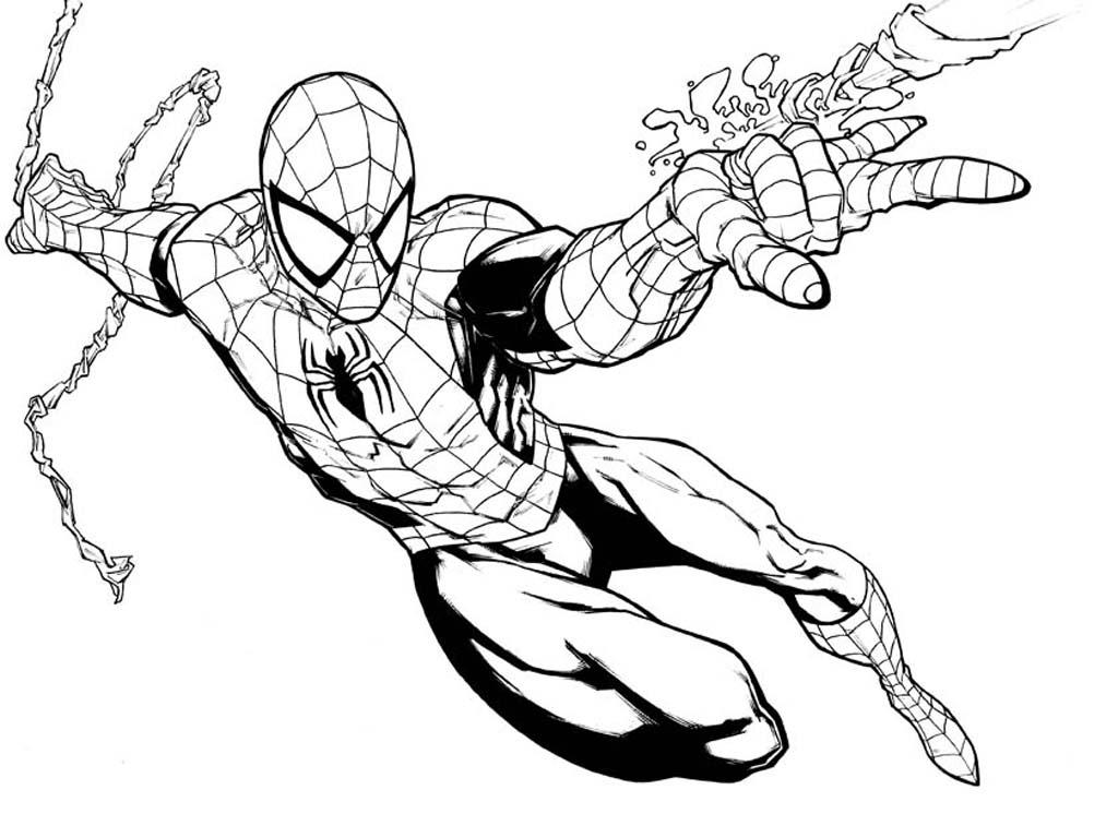 Картинки для рисования детям человек паук