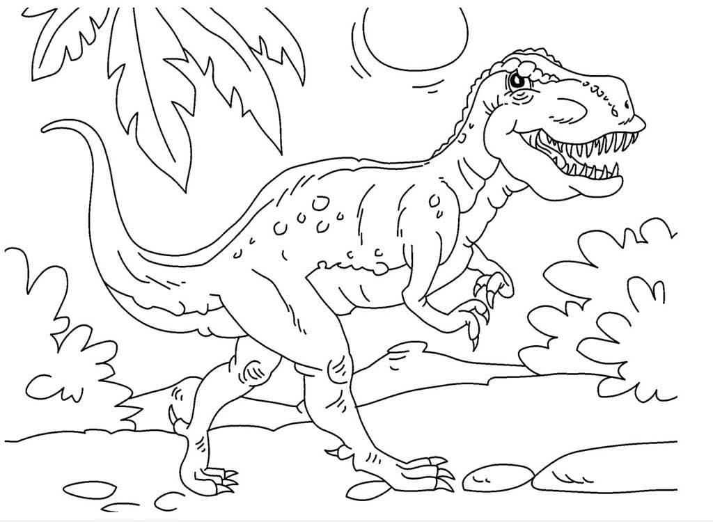 вьющиеся картинки динозавр разукрашки основе