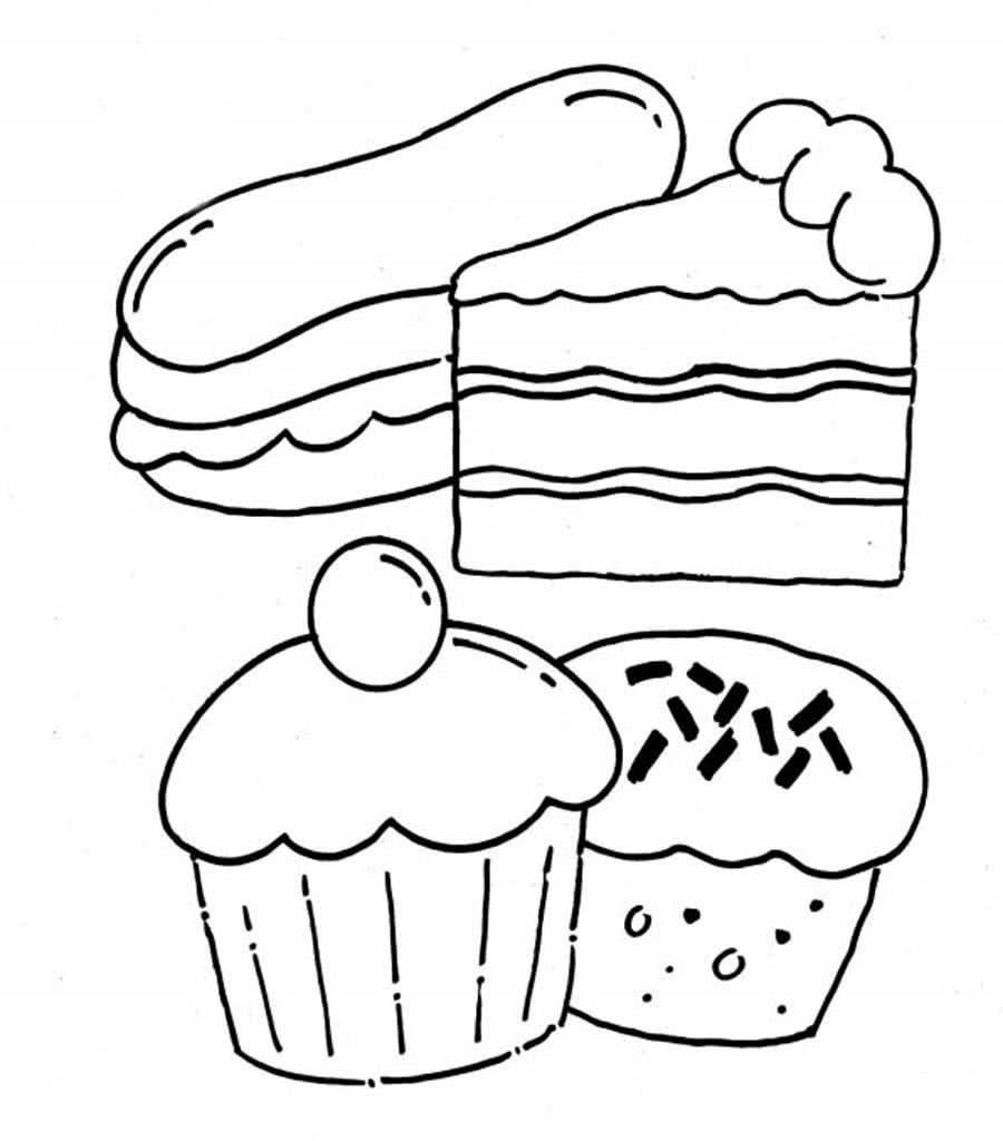 Раскраски Еда для малышей