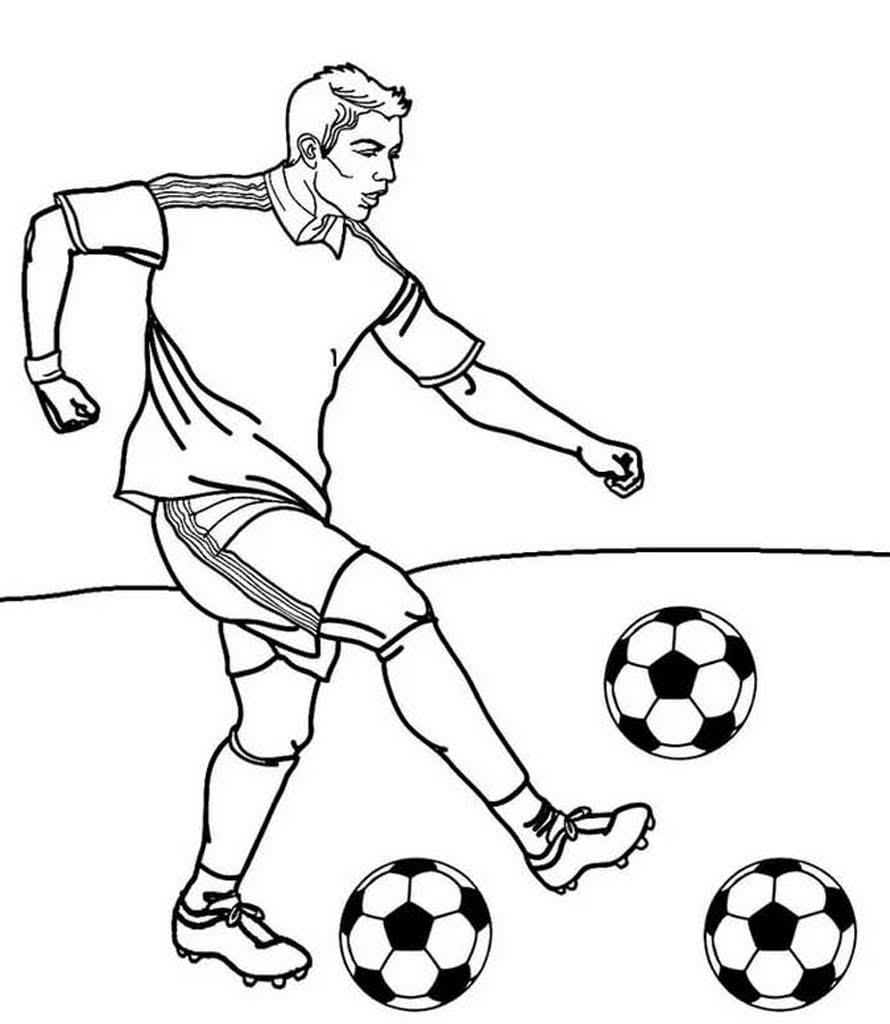 Детские рисунки футболиста