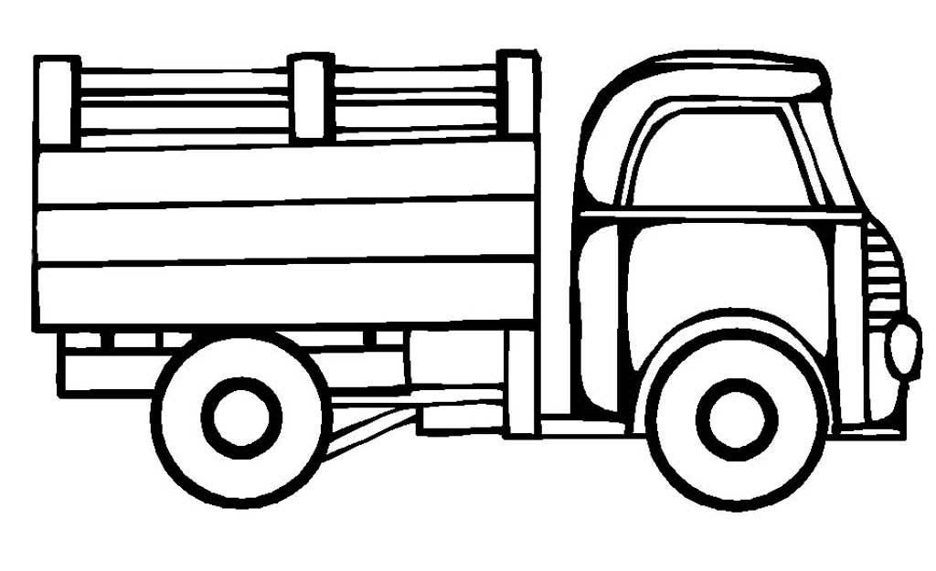 Грузовик картинки для детей раскраска
