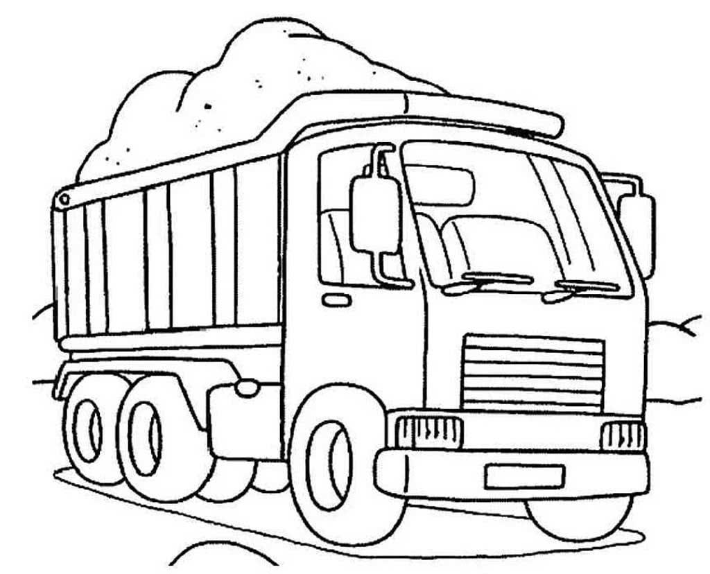 Картинки грузовых машин для детей раскраски