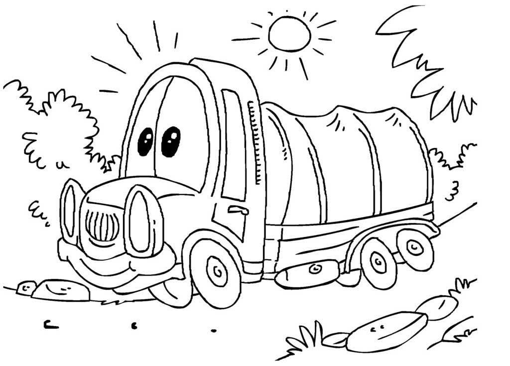 Раскраски Грузовики для детей 3-10 лет. 33 раскраски с ...