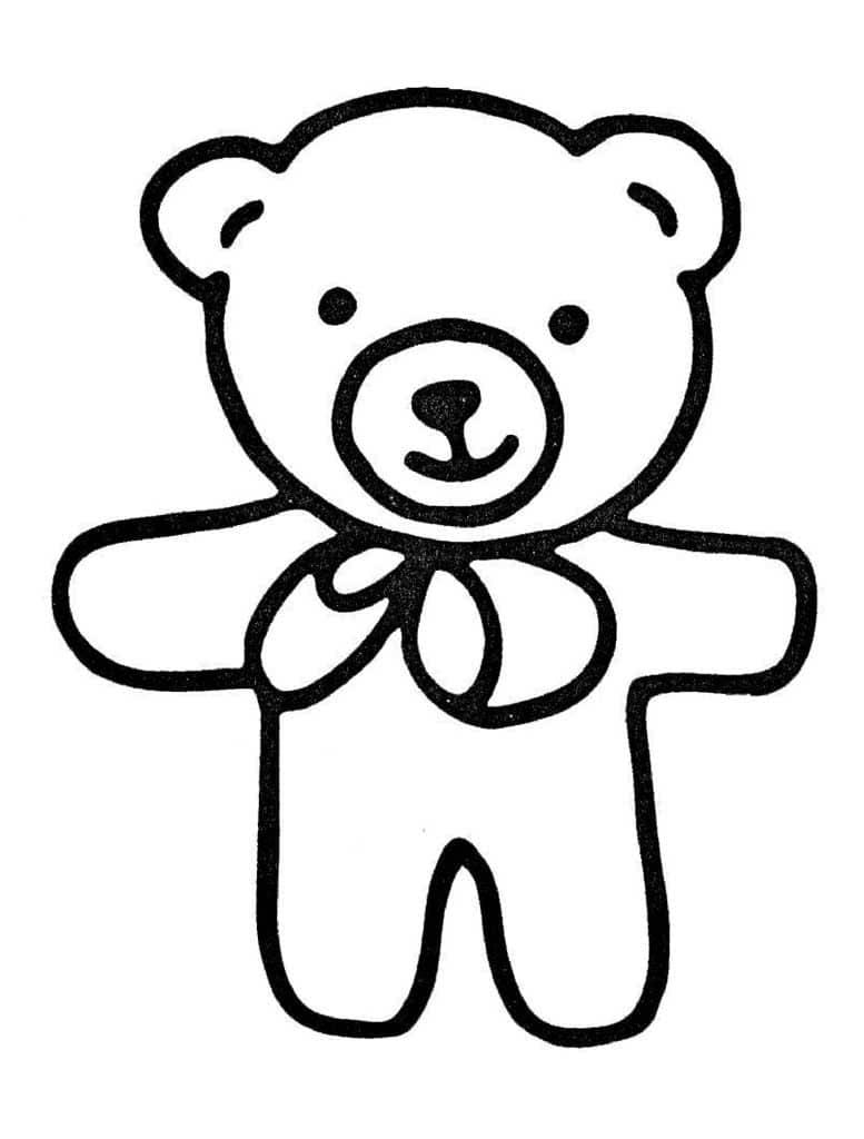 Картинка мишка для детей раскраска