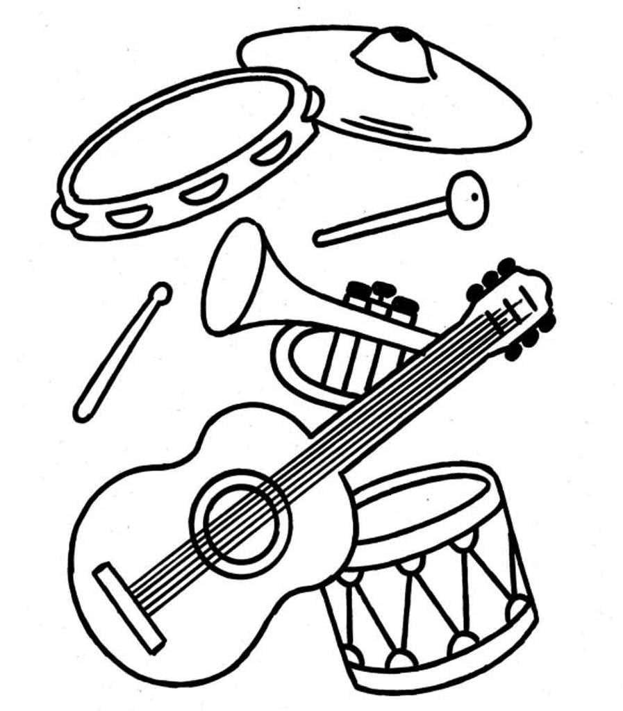 Музыкальные инструменты картинки распечатать
