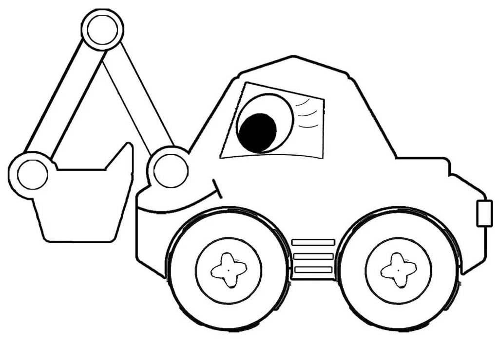 фотобумага распечатать картинки для раскрашивания машинки трактор паровозик кран снимать налегке