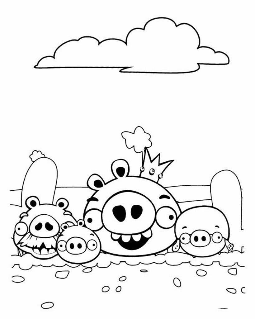 Раскраски Энгри Бердс (Angry Birds)