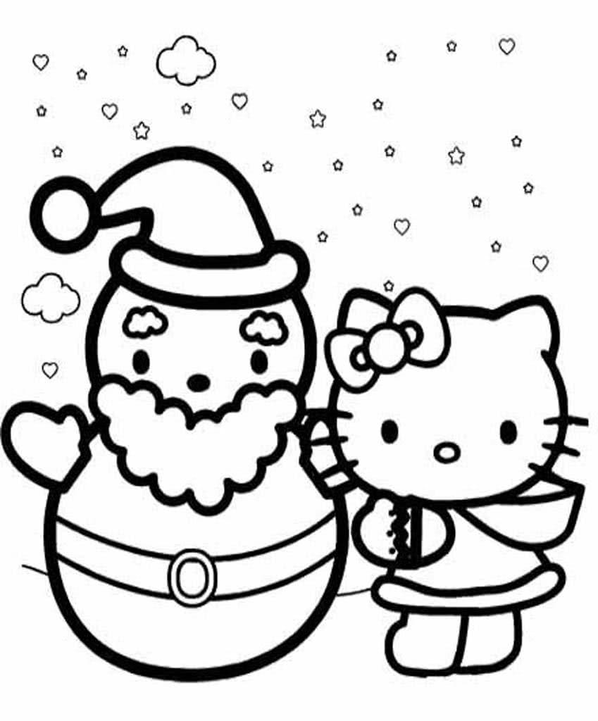 Раскраски Хелло Китти (Hello Kitty). Раскраской с белым ...