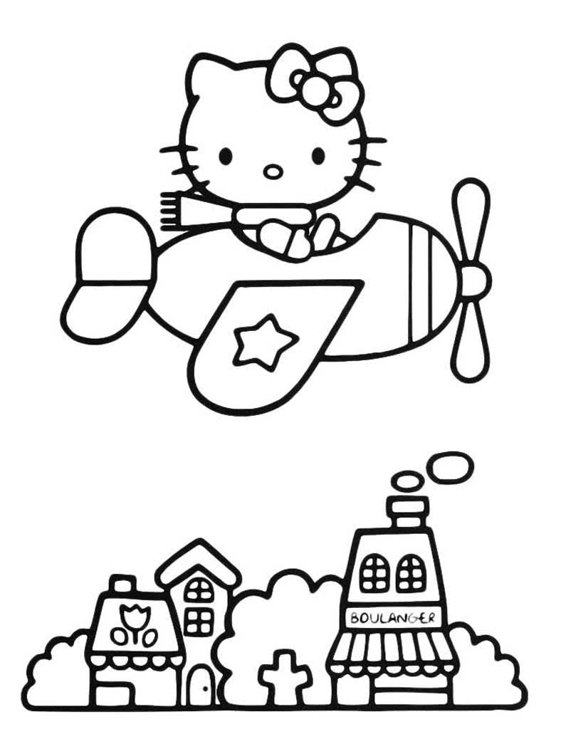 раскраски хелло китти Hello Kitty раскраской с белым