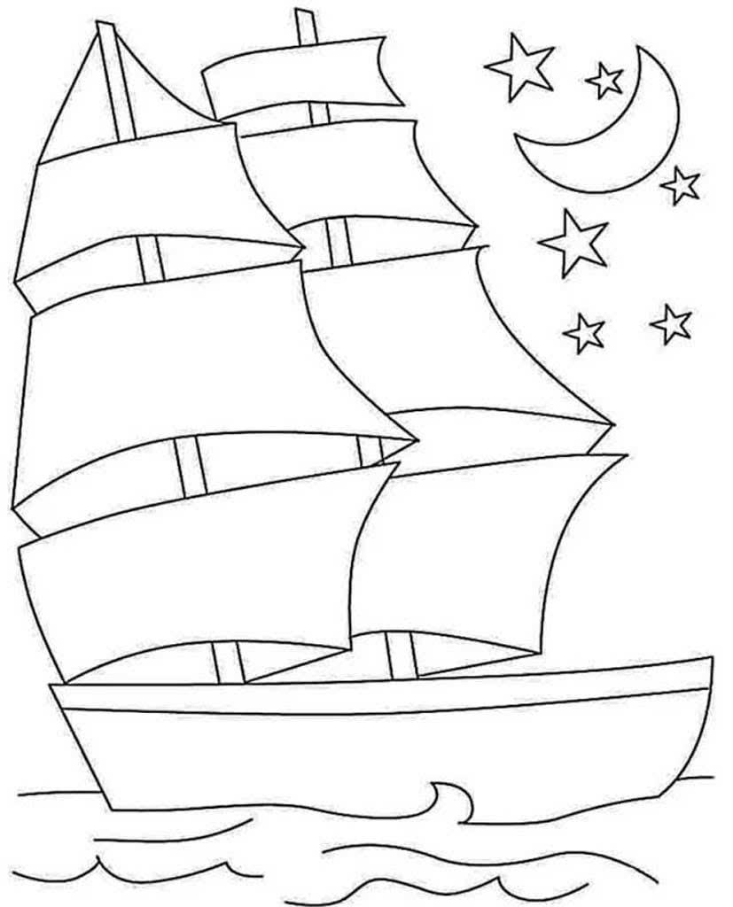 раскраски картинки кораблей