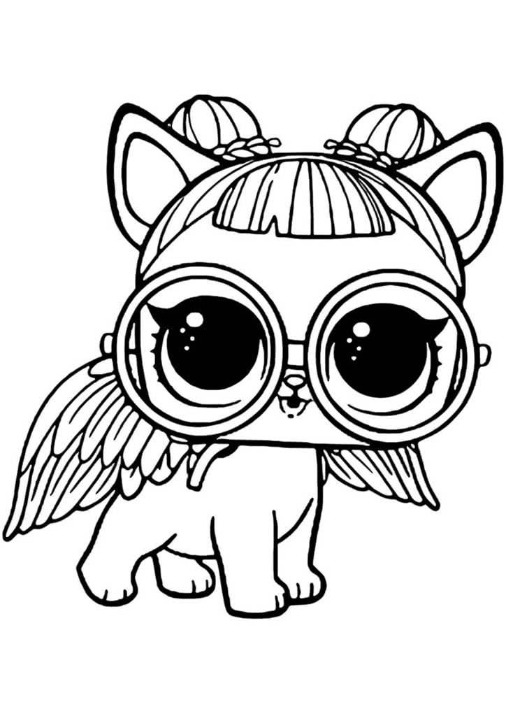 Картинки куклы для срисовки животное