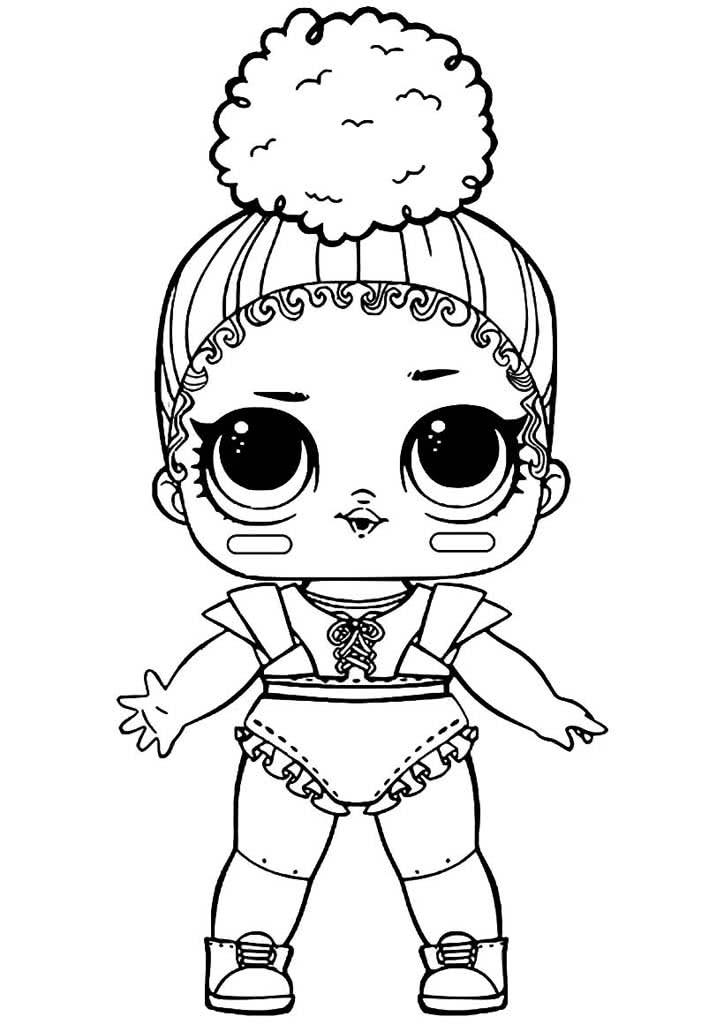 Раскраски кукол Лол (Lol). Раскраски малышек Лол.