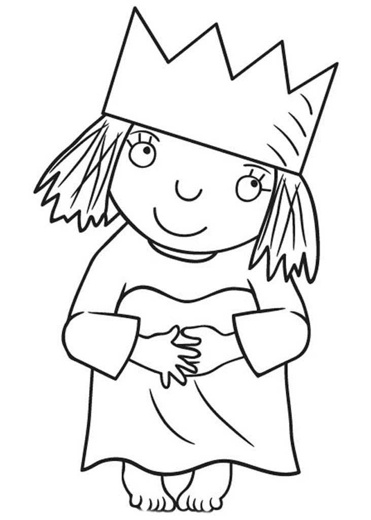 Раскраски Маленькая принцесса