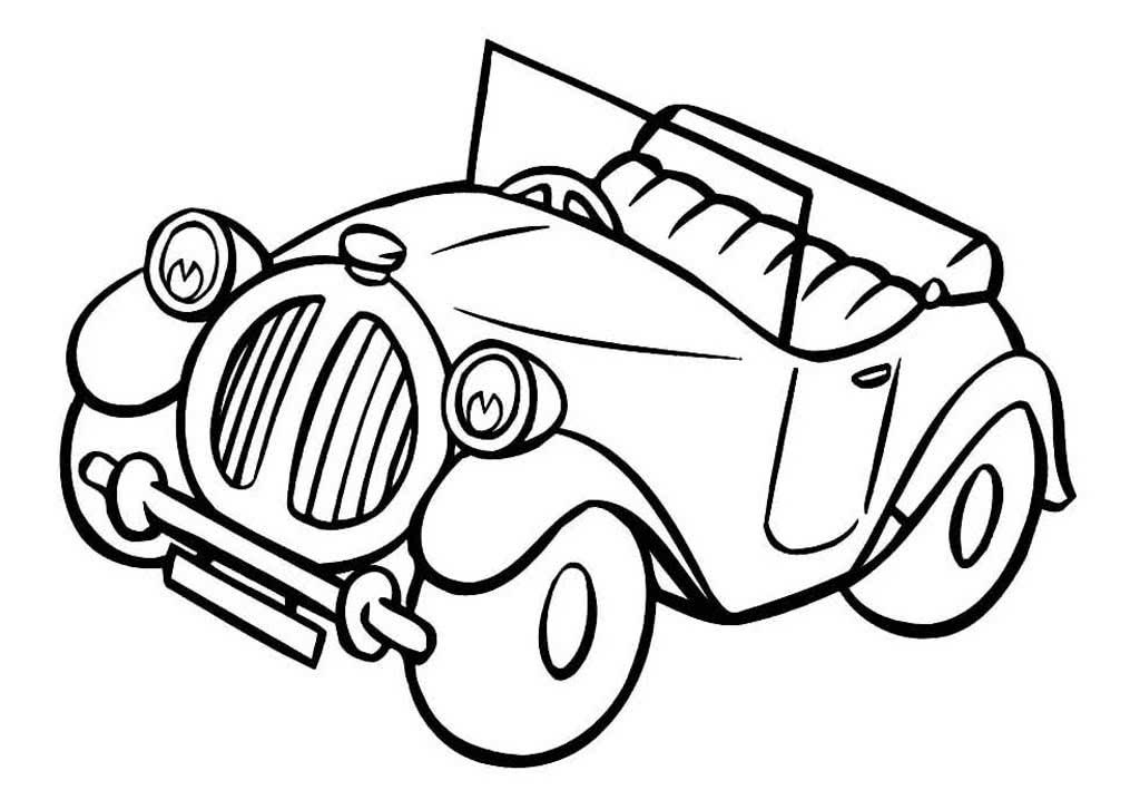 Контурные картинки машины