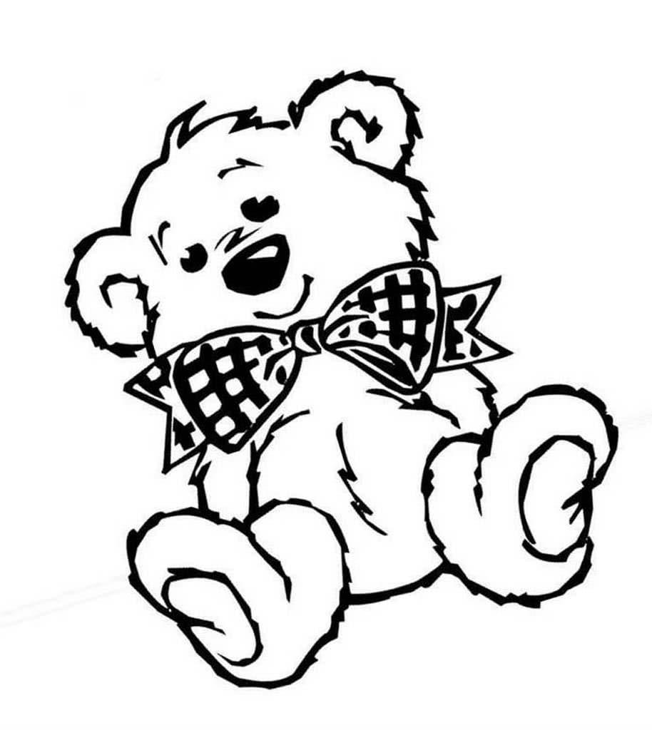 Черно-белые картинки медвежат