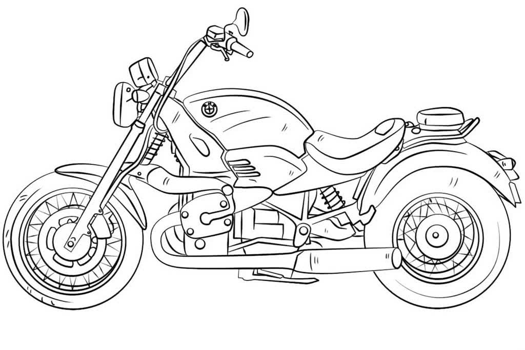 Машины и мотоциклы раскраски