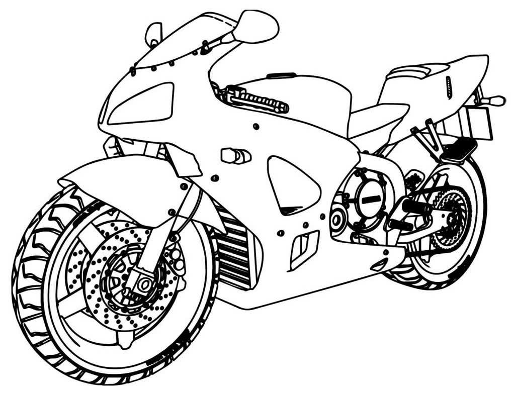 Мотоциклы картинки раскраски, скорее