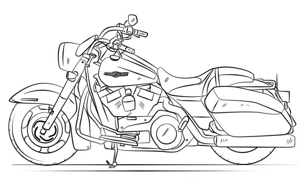Мотоциклы картинки раскраски, про вывоз мусора