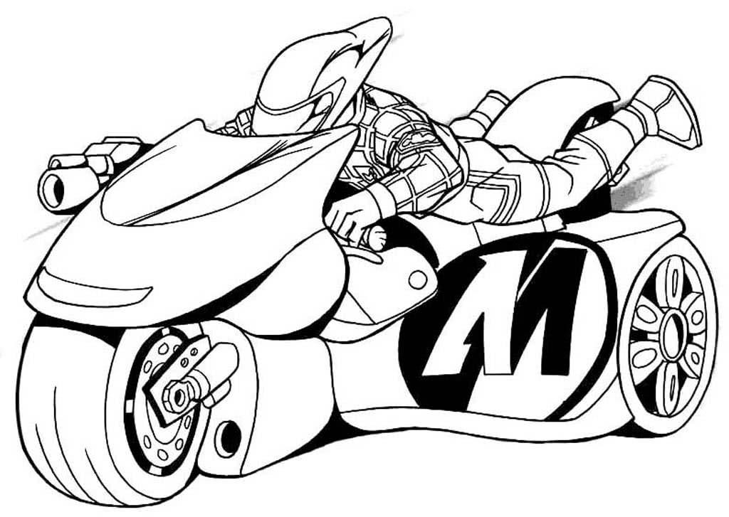 Картинки мотоциклов для раскрашивания, открытка