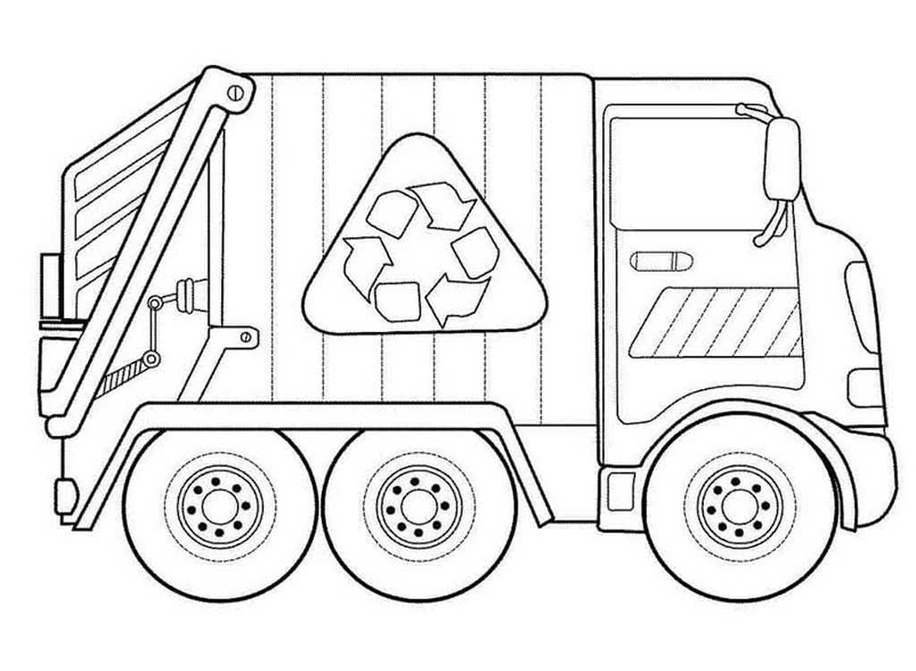 раскраски мусоровоз для детей 5 10 лет раскраски для мальчиков