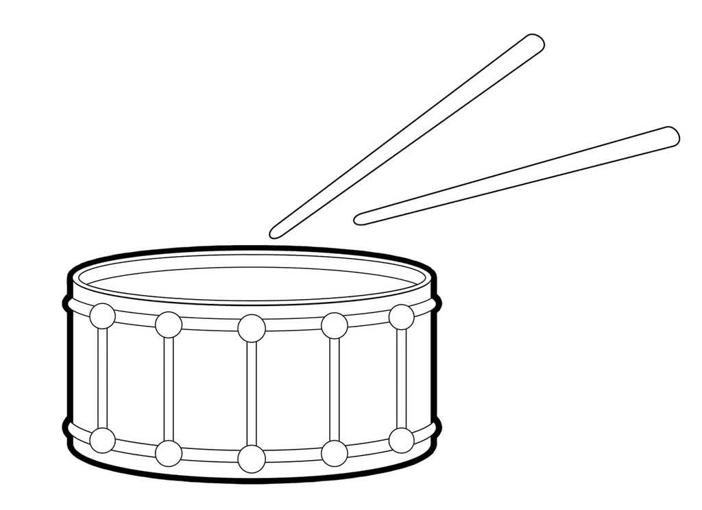 Картинка карандашом музыкального инструмента