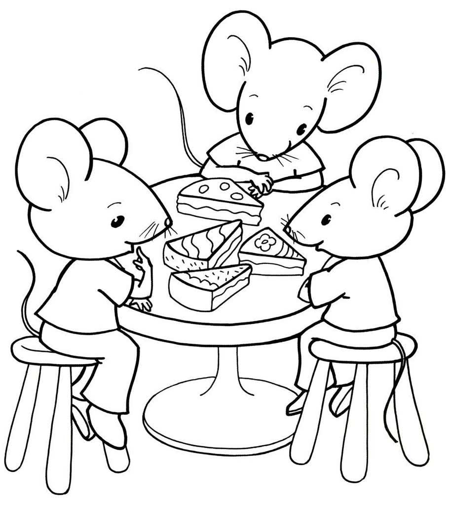 Картинки две мышки за столом