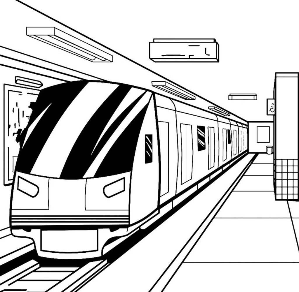 Раскраски Поезда