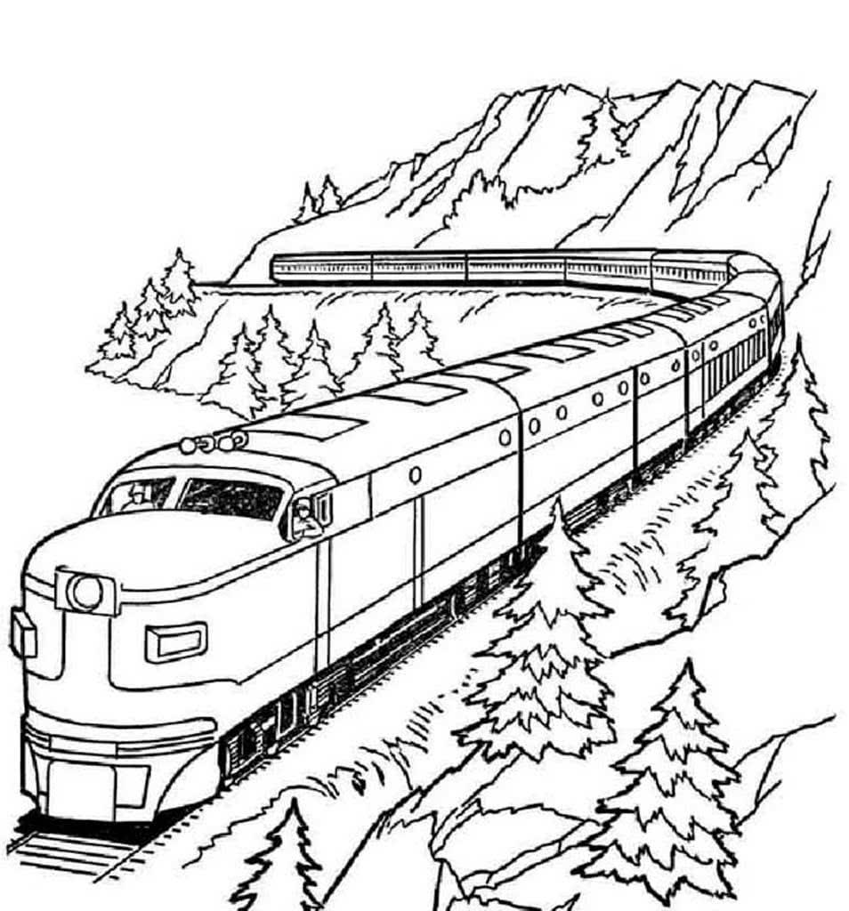 Поезд картинки в карандаше