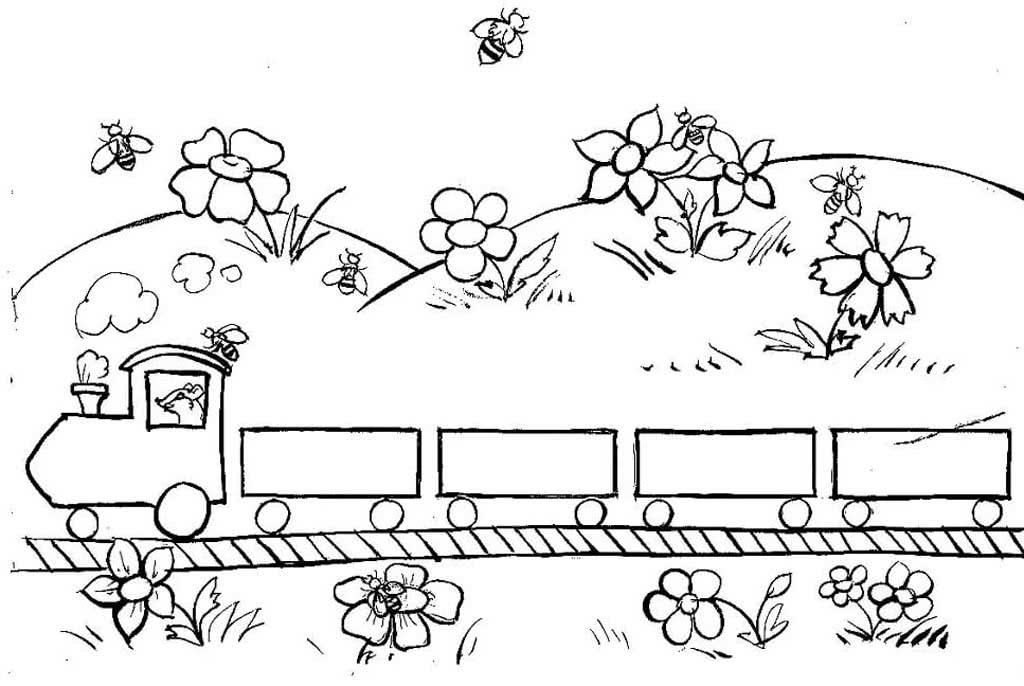 Картинка детская железная дорога распечатать