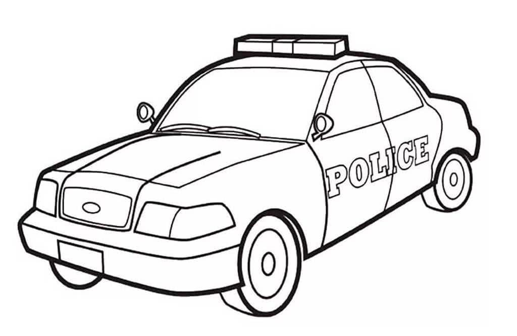 Раскраски Полицейские машины для детей 3-10 лет. 35 раскрасок.