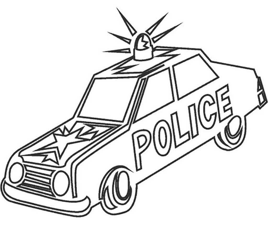 Картинки полицейской машины распечатать