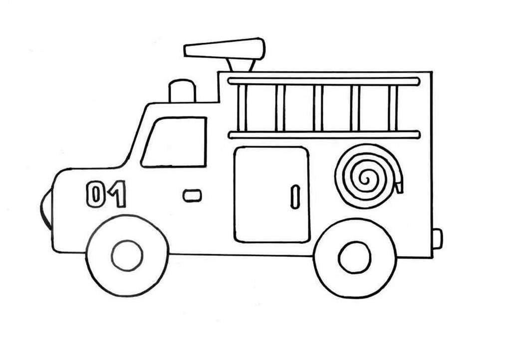 она черно белые картинки пожарных машин лома