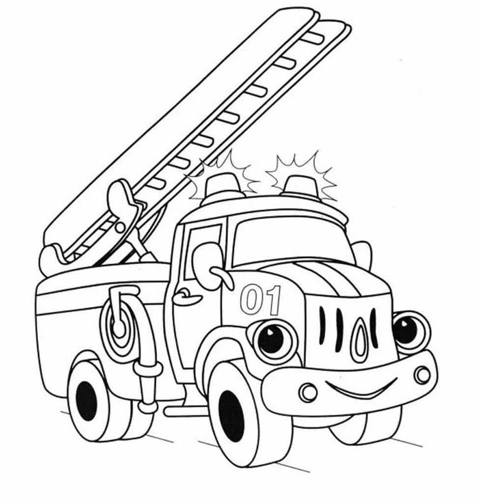 Раскраски Пожарные машины от 3 лет. Более 40 раскрасок с ...