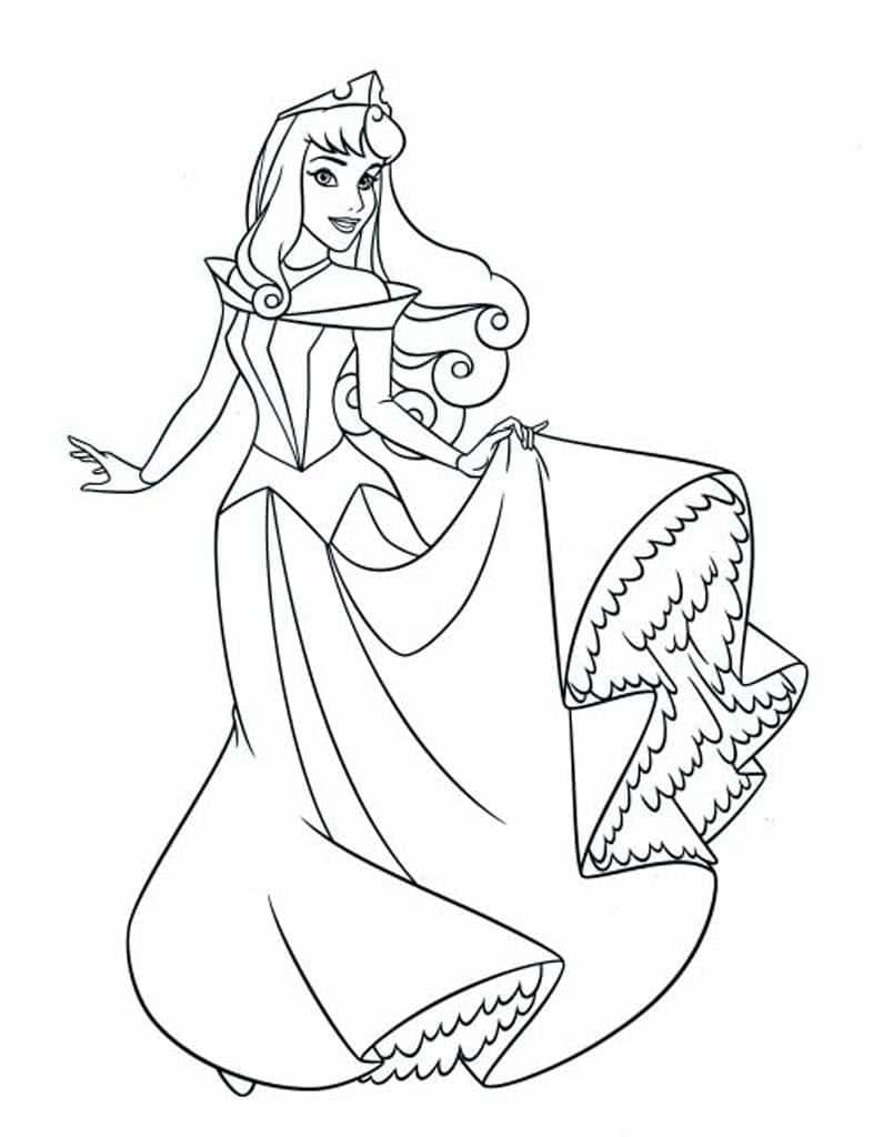 Раскраски Принцессы