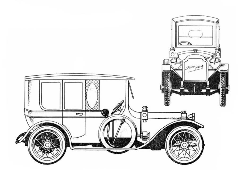 Раскраски Ретро автомобили разных стран с названиями. 47 ...