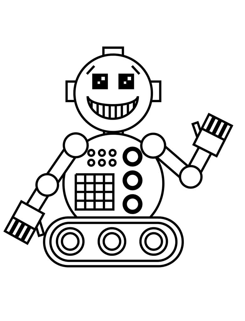 Раскраски Роботы