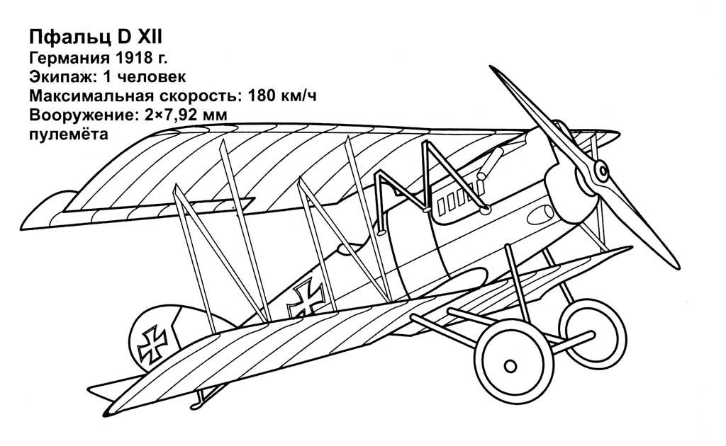 Раскраски Самолёты