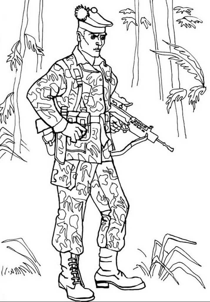 Раскраски Солдаты для мальчиков 3-10 лет. Раскраски с ...