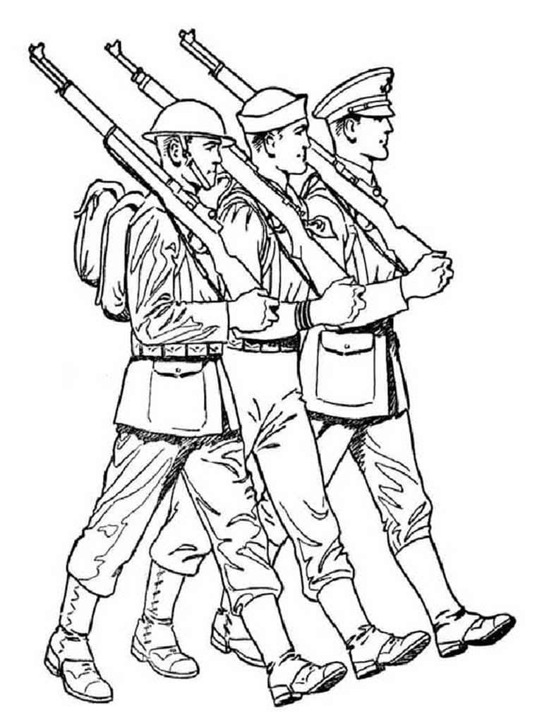 Прикольные, военные картинки для детей раскраски