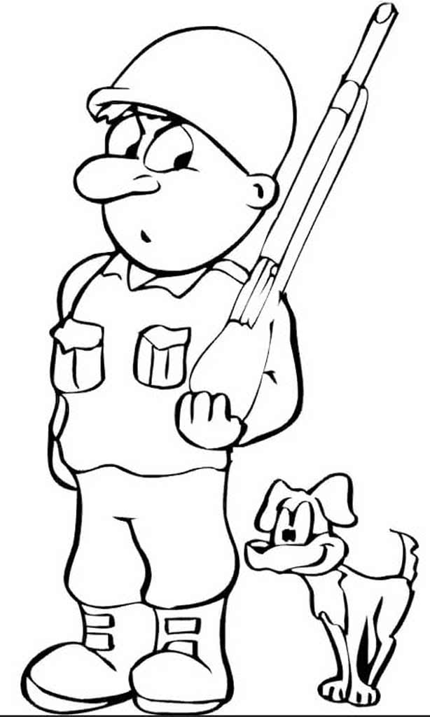 Картинка солдат раскраска для детей