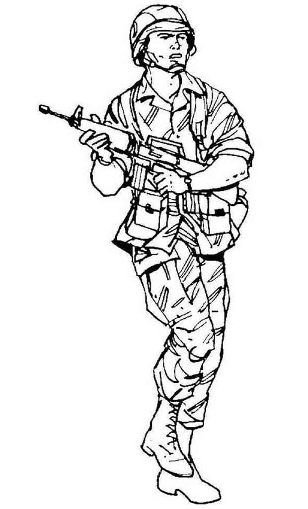 Картинки солдат рисуем