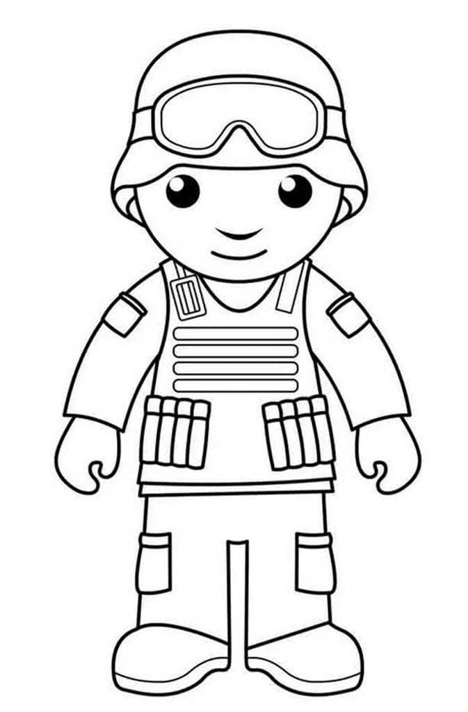 15+ Раскраски Для Мальчиков Военные Солдаты