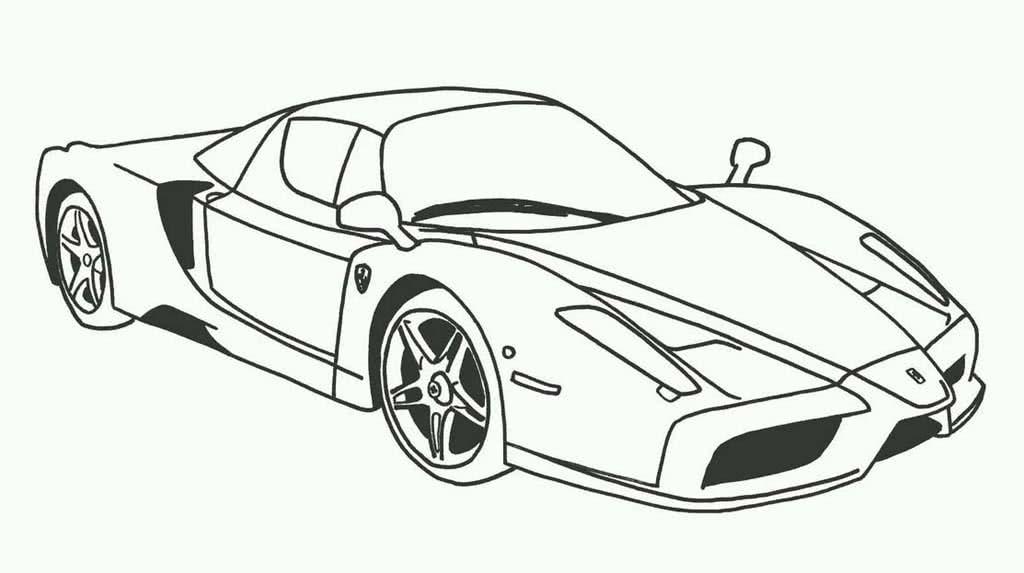 Раскраски Спортивные автомобили