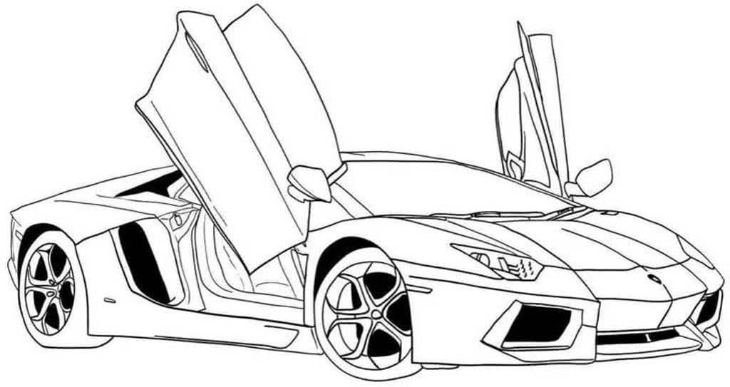 раскраски спортивные автомобили для мальчиков 5 10 лет
