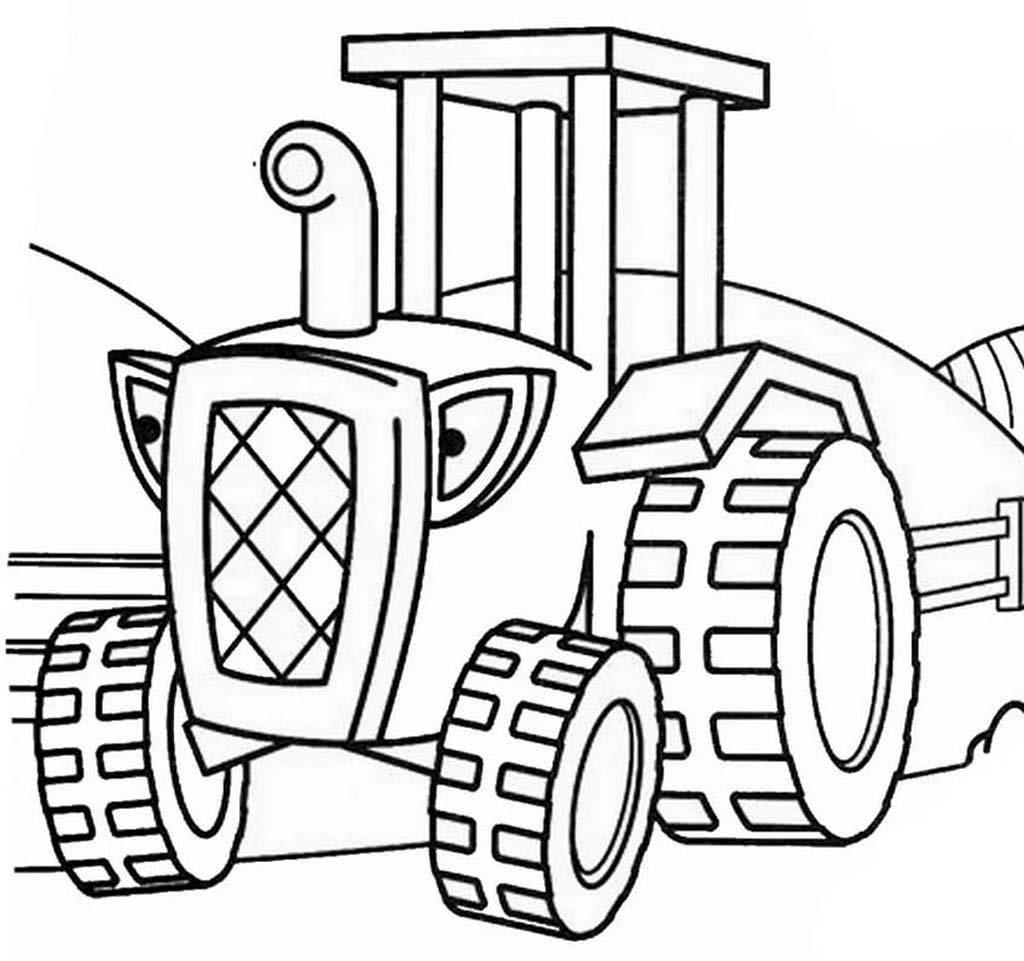 Рисунки тракторов и машин