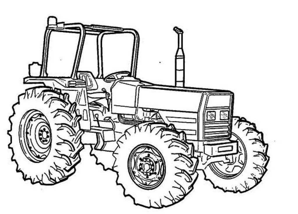 Трактор в картинках для детей раскраска